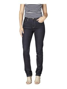 'Tummy Trimmer' Slim Straight Jeans in Forever Indigo - Apple Body Shapes, Winter Outfits, Winter Clothes, New Look, Indigo, Maternity, Black Jeans, Slim, My Style