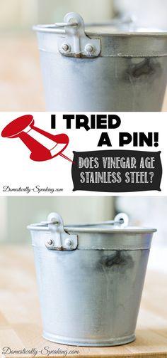 Does Vinegar Age Metal Stainless Steel