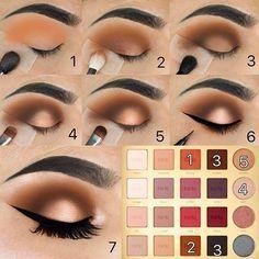 Makeup - Eyeshadow Tutorial - Weddbook Eye Makeup kim k eye makeup tutorial Eyeshadow Tutorial For Beginners, Eyeliner Tutorial, Eye Shadow Tutorial, Glitter Eyeshadow Tutorial, Brown Eye Makeup Tutorial, Eyeshadow Makeup, Makeup Brushes, Eyeshadow Palette, Gel Eyeliner
