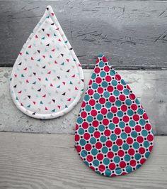 Raindrop Coasters - Fabric Coasters - Decorative Coasters £8.00