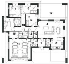 Projekt domu Klarowny D55 138,99 m² - koszt budowy - EXTRADOM Architecture, Home Projects, House Plans, Floor Plans, House Design, How To Plan, Flats, Arquitetura, House Floor Plans