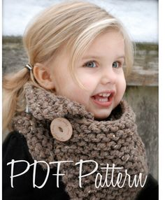 This is so cute! Knitting PATTERNThe Boston Cowl Child Adult by Thevelvetacorn, $5.50