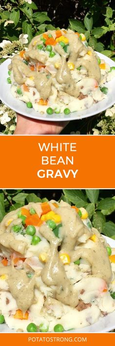 This gravy is an alternative to my chicken-style and brown gravies – substituting a can of no sodium added white kidney beans for the flou. Mcdougall Diet, Mcdougall Recipes, Vegan Sauces, Vegan Foods, Whole Food Recipes, Cooking Recipes, Gf Recipes, Easy Recipes, Fat Free Vegan