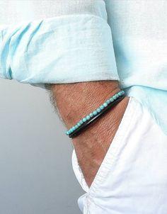 Turquoise mens bracelet Mens Turquoise Personalized Bracelet Turquoise bracelet for men Custom Mens Bracelet Mens Engraved Bracelets, Personalized Bracelets, Engraved Gifts, Gifts For Father, Gifts For Dad, Gifts For Friends, Fathers, Bracelets For Boyfriend, Boyfriend Gifts