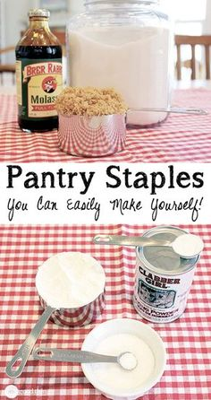 Not only is it MUCH cheaper to make your own pantry staples, you also know exactly what is going into your food and can customize each item to suit your family's needs (to accommodate allergies, etc.)