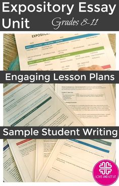 Expository Essay Writing Unit for High School and Middle School! Reader's Writer's Workshop Model / Informative and Explanatory Essay Writing. Click through for prompts, lesson plans, activities, ideas and more! Expository Writing Prompts, Middle School Writing Prompts, School Essay, Essay Writing Tips, Writing Process, Teaching Writing, Teaching Tools, Teaching English, Creative Writing Topics
