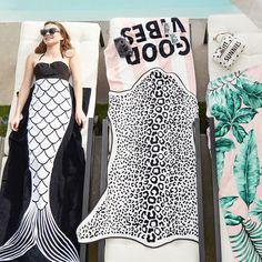 The Emily & Meritt Shaped Leopard Beach Towel | PBteen