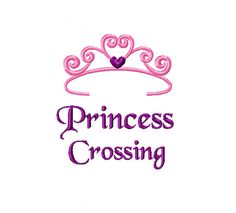 Princess Crossing 4x4 Embroidery Design by EmbroideryDownloads