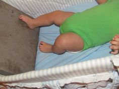 Kicking the cookie sheet and other neat ideas for baby gross motor development