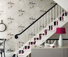 Black Pink Hallway Design: http://www.myhomerocks.com/2012/02/beautiful-hallways/