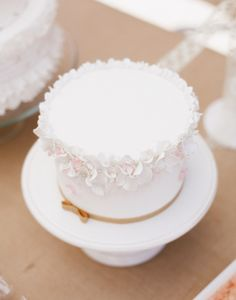 Soft Pink and White Flower Garland Cake