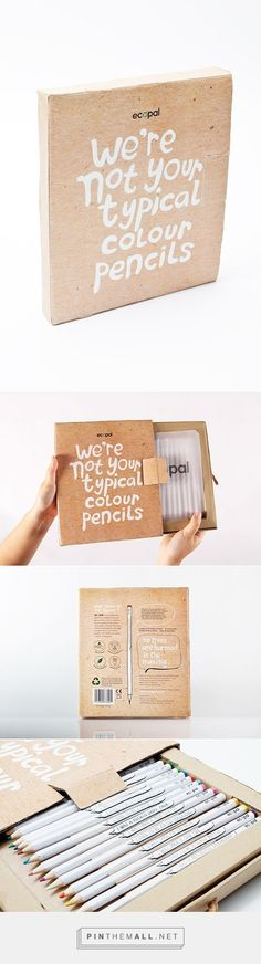 Ecopal / Ecopal is a self-made brand of wood-free colour pencils. Celebrating National Pencil Day with a few of my favorite pencil pins. Cool Packaging, Brand Packaging, Paper Packaging, Ecommerce Packaging, Caran D'ache, Lettering, Grafik Design, Sustainable Living, Sustainable Ideas