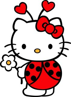 I am not a fan of Hello Kitty BUT this Hello Kitty Lady Bug Decal Sticker is pretty darn cute! Sanrio Hello Kitty, Hello Kitty Art, Hello Kitty Tattoos, Hello Kitty Birthday, Hello Kitty Clipart, Hello Hello, Kitty Party, Little Twin Stars, Images Hello Kitty