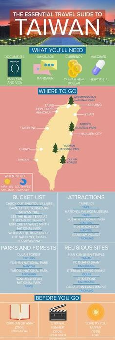 The Essential Travel Guide to Taiwan (Infographic)|Pinterest: theculturetrip
