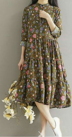 Women loose fit over plus size retro flower dress maxi tunic pregnant maternity .- Women loose fit over plus size retro flower dress maxi tunic pregnant maternity … Women loose fit over plus size retro flower dress maxi tunic pregnant maternity - Flower Dresses, Women's Dresses, Cute Dresses, Dress Outfits, Fashion Dresses, Party Dresses, Simple Dresses, Plus Size Dresses, Casual Dresses
