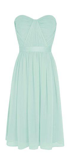Mint chiffon dress