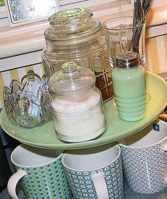 Organizing-Coffee Station..very cute