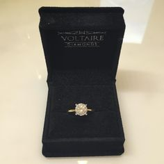 This amazing 1.61 ct just arrived in today! Classic solitaire on 18k yellow gold. I think we all would say yes to this! #voltairediamonds #engagementring #solitaire #yellowgold #bride #wedding #love #diamonds
