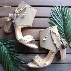 very volatile - boho shell leather sandals in taupe - shophearts - 1