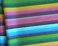 South American Fabric, Peruvian Fabric, Woven, Blue Hues, 1 Yard