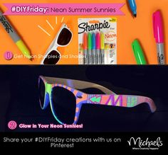 Fun craft for kids.....Neon Summer Sunglasses