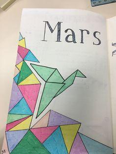Bullet journal De Mars : thème du mois : l'origami ! ❤️
