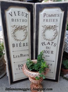 french bistro signs