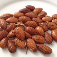This would be a good snack for me. Roasted almonds with Olive oil, sea salt, rosemary and cayenne pepper. I hear almonds are good for helping to loose belly fat. food ab-workout