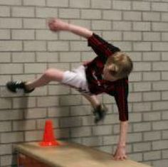 Freerunning in de gymles!