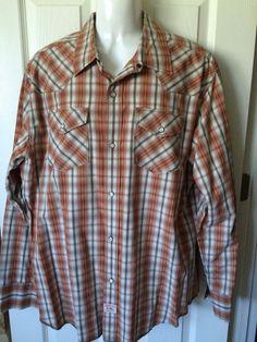 Mens Pearl Snap 2 XL Levi Strauss Signature Shirt Rockabilly Cowboy Long  Sleeve  Levis   84d3adae9