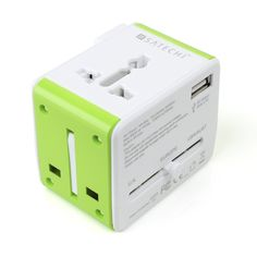 The Satechi Smart Travel Router is a multiple country power plug adapter, USB power port and built-in WiFi router all rolled into a package about the size of a normal power adapter.