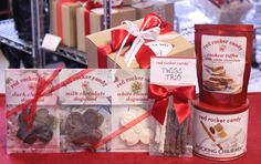 Sweet Virginia Box from Red Rocker Candy in Troy, Virginia. This sweet sampler includes a 2016 Go Virginia Pass, along with the top selling Rocking Chair Mix, Cashew Toffee, solid chocolate Dogwood Blossoms, and the newest product, TWIGS chocolate-covered pretzels. $59 includes $10 shipping.