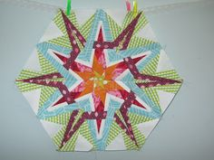 Stargazer Crystal block - has link to paper piecing pattern