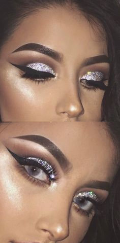 Pretty lashes and glitter ✨ unicorn makeup www.glowcult.com