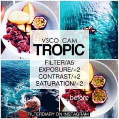 •VSCO CAM• ☆another tropical filter☀ ☆ Look best with:Tropical photos ☆Cost:Free…