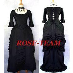Rosa Equipo-Por Encargo Del Envío Libre Medieval Victoriana Vestido Baile de…