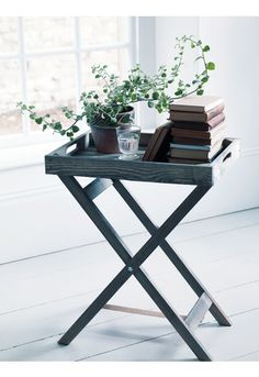Rustic Wooden Tray Table - Furniture
