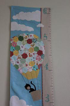 hexagon pieced hot air balloon fabric growth by sewsimplysugar