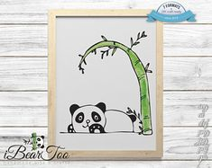 Panda SVG Watercolor Bear Clipart Drawing Vector Cut Files for Cricut and Silhouette or Printing How To Make Stickers, Clear Stickers, Bear Clipart, Bunny Drawing, Vector File, Handmade Art, As You Like, Planner Stickers, Cricut