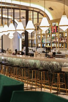 """I'm from New York, and the Rose Bar in the Gramercy Park Hotel is my favorite. It's what inspired me,"" restaurateur Joseph Palladino explains of his latest venture, Quill. The lavish restaurant and bar located in the Design District is swanky. Plush emerald-green seating with brass details line the spacious dining room. Palladino traveled across the country in pursuit of inspiration for the project. ""I went to LA, New York, Chicago, and even Mexico City. I wanted to create something that…"