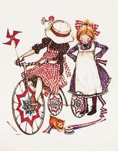 of July Holly Hobbie Sarah Kay, Holly Hobbie, Toot & Puddle, Mary May, Vintage Holiday, Vintage Kids, Vintage Decor, Vintage Art, Vintage Items