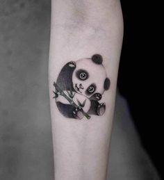 71 Cute Panda Tattoo Images - Wormhole Tattoo 丨 Tattoo Kits, Tattoo machines, Tattoo supplies Girly Tattoos, Mini Tattoos, Cute Tattoos, Ship Tattoos, Ankle Tattoos, Arrow Tattoos, Small Animal Tattoos, Small Tattoos, Temporary Tattoos