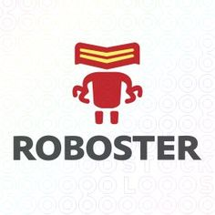 Exclusive Customizable Robot Logo For Sale: Roboster   StockLogos.com