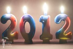 Happy New Year using b'day candles.