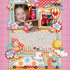 Lalaloopsy scrapbooking layout