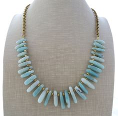 Hey, I found this really awesome Etsy listing at https://www.etsy.com/listing/242931568/amazonite-necklace-light-blue-bib