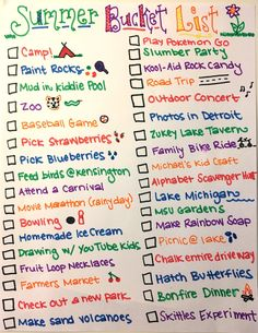 When the kids get out of school, beat boredom by creating a summer bucket list of fun! Check out my family's list to get inspired. Summer Bucket List For Teens, Summer Fun List, Summer Ideas, 2017 Summer, Bullet Journal Ideas Pages, Bullet Journal Inspiration, Michaels Kids Crafts, Fun Sleepover Ideas, Sleepover Party