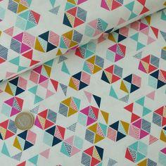 Popeline Candy Triangles multicolores