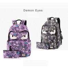 Cartoon Demon Eyes Travel Bag back to school for teens students girls boys