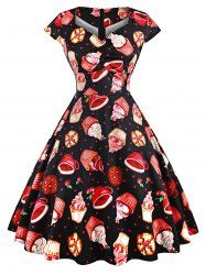 Christmas Party Cookies Vintage A Line Dress